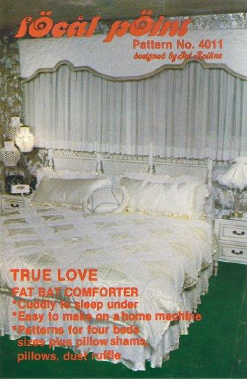 True Love ~ Fat Bat Comforter + Pillows & Dust Ruffle