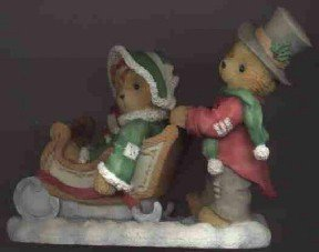 Cherished Teddies Figurine 1996 ~ Walking In A Winter Wonderland