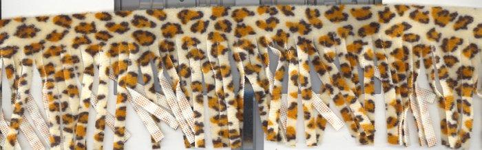 """2.5"""" Fringe ~ 6 + yards ~ Leopard print"""