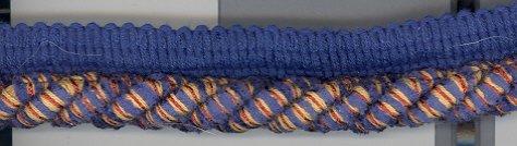 3/8 Mingled Cord ~ 8 + yards ~ Blue Tan & Rust