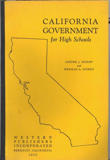 California Government for High Schools ~ Book 1955