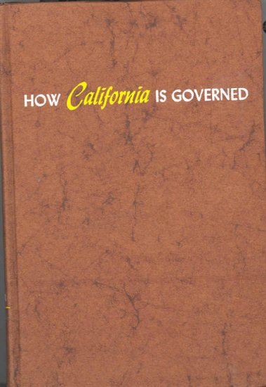 How California is Governed ~ Book 1955