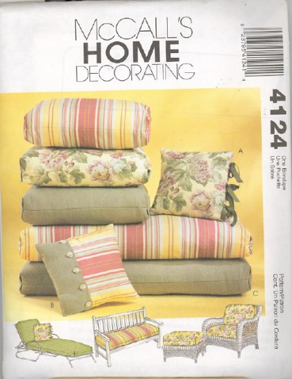 Porch Pillows Pattern ~ McCall's 4124 ~ 2003