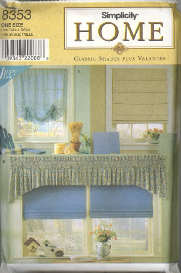 Window Treatments ~ Simplicity 8353 ~ 1999