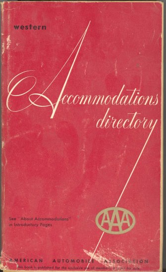 AAA Western Accommodations Directory 1957-1958