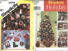 2 Simplicity Patterns, #'s 6098 and 7369 ~ Christmas Ornaments & Lots More