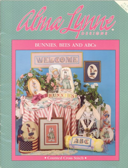 Bunnies, Bees & ABC's ~ Cross-stitch booklet Alma Lynne ~ 1989