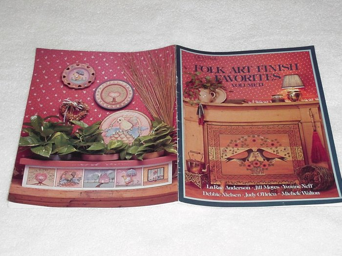 Folk Art Finish Favorites ~ Decorative Painting Booklet ~ 1985
