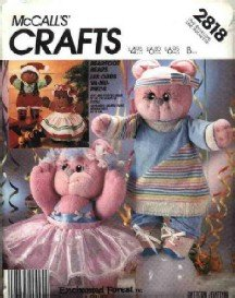 McCall's # 2818 ~ Uncut Bearfoot Bears by Enchanted Forest ~ 1986