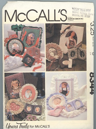 McCall's 8344 ~ Uncut Fabric Frames Pattern 1983