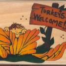 Turkeys Welcome ~ New Rubber Stamp