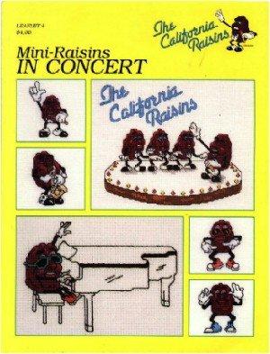 Mini-Raisins in Concert ~ Cross-Stitch Chart ~ 1988