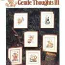 Gentle Thoughts III ~ Cross-Stitch Pattern ~ 6 designs whimsical wildlife ~ 1992