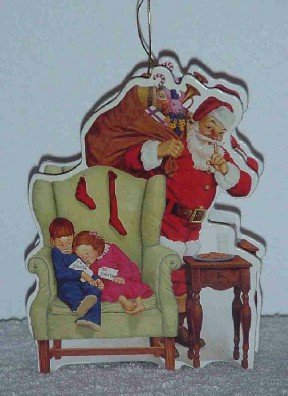 Unique Santa Ornament ~ Decoupage