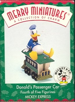 Hallmark Merry Miniatures ~ Donald's Passenger Car 1998 ~ Mickey Express