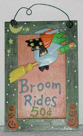 Witch Broom Rides 50 cents ~ Wall Decor