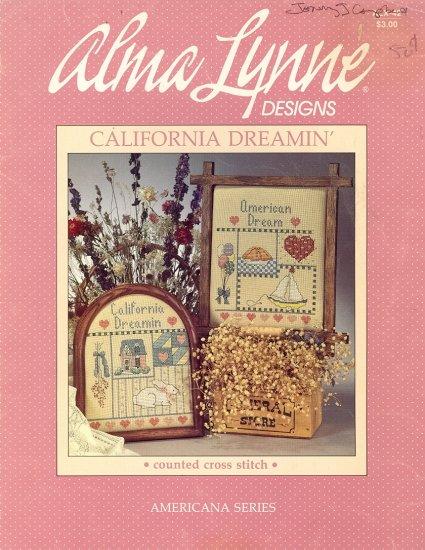 California Dreamin' ~ Cross-stitch Chart Alma Lynne ~ 1985