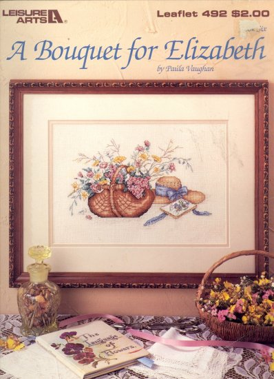 A Bouquet for Elizabeth by Paula Vaughan ~ Cross-stitch Chart 1987