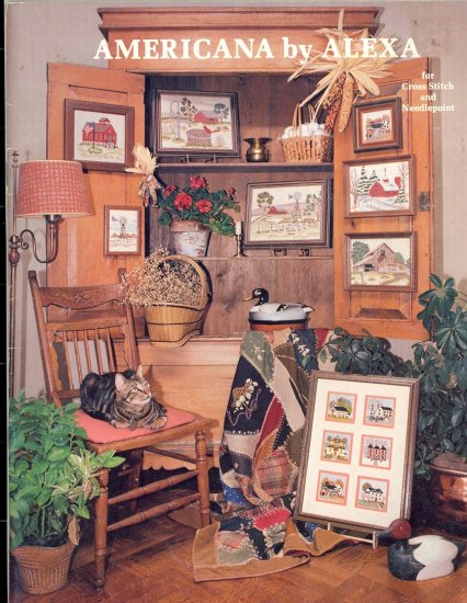 Americana by Alexa ~ Jeanine Alexander Sherman ~ Cross-stitch and Needlepoint Booklet 1981