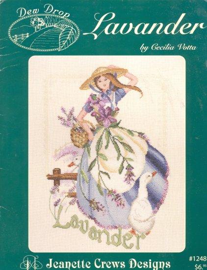 Lavander by Cecilia Votta ( Women in Flowers ) ~ Cross-stitch Chart 2003