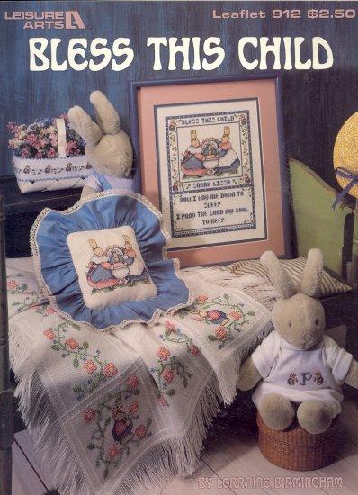 Bless This Child by Lorraine Birmingham ~ Cross-stitch Chart 1990