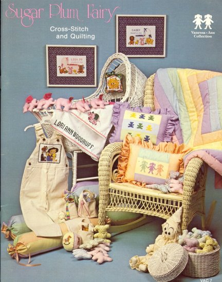 Sugar Plum Fairy Cross-stitch and Quilting ~ Booklet 1981