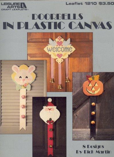 Doorbells by Dick Martin ~ 8 designs ~ Plastic Canvas Booklet ~ 1989