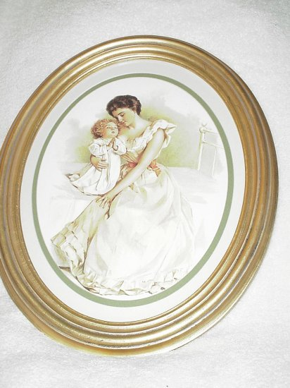 Framed Mother with a Praying Child Picture