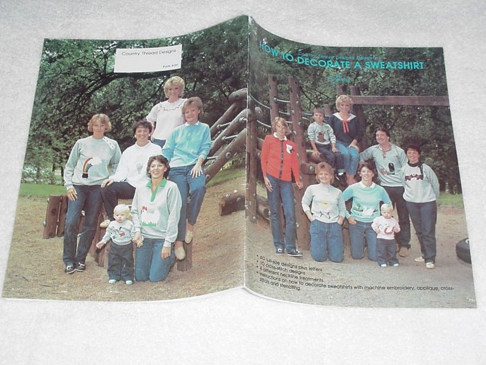 How to Decorate a Sweatshirt by Rachel Brag ~ Booklet 1985