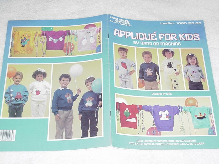 Applique for Kids (by hand or machine) by Cari ~ Booklet 1986