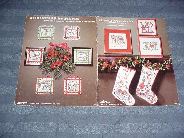Christmas by Jinice by Jinice Beacon & Vi Etmund ~ Cross-Stitch Chart 1982