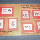 Pets are People Too by Judith Bonnot ~ Cross-Stitch Chart 1980
