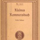 Kleines Kommersbuch Liederbuch fabrender Schuler ~ Book 1897