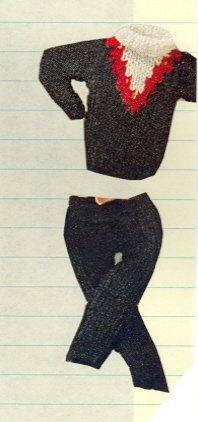 Vintage Barbie Ski Set Knit Pattern