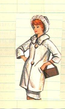 Vintage Barbie Coat and Hat Knit Pattern
