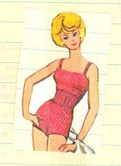 Vintage Barbie Swimsuit Knit Pattern