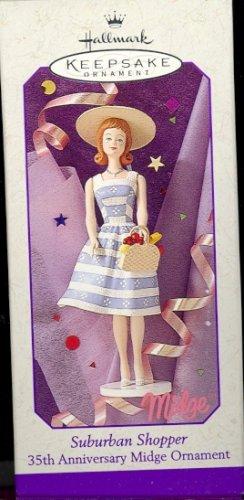 Hallmark Spring Ornament ~ Suburban Shopper Midge ( Barbie's friend ) ~ 1998