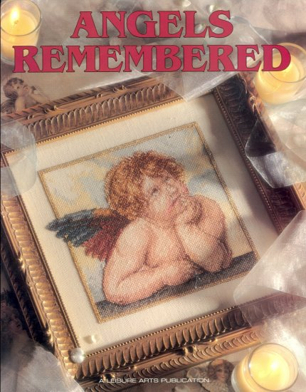 Angels Remembered Cross-Stitch Book ~ 1996 ~ 50 designs