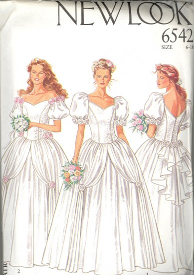 New Look by Simplicity Pattern # 6542 ~ Vintage Bride & Bridesmaid ~ sizes 6-18 ~ UNCUT
