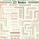 Border Collection (127 borders) by Mary Scott ~ Cross-Stitch Chart 1990