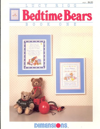 Bedtime Bears by Lucy Rigg ~ Cross-Stitch Chart 1985