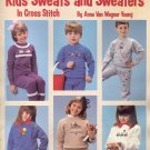 Kid's Sweats and Sweaters in Cross Stitch by Anne Van Wagner Young ~ Cross-Stitch Chart 1986