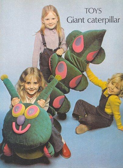 Vintage Toy Giant Caterpillar ~ 1974