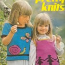 Pretty Knits ~ Knit Leaflet  ~ 1972 ~ Girls Sweaters