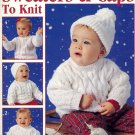 Sweaters & Caps to Knit by Carole Prior ~ Babies ~ Knit Booklet 1994
