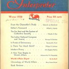World Affairs Interpreter Book ~ Winter 1938