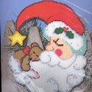 Sleepy Santa ~ Wall Décor ~ Plastic Canvas Kit