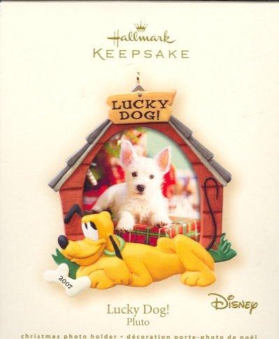 Hallmark Ornament ~ Lucky Dog! Pluto 2007 ~ Walt Disney ~ Holds Photo