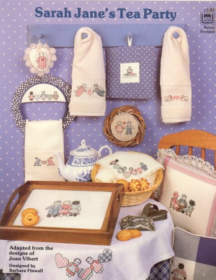 Sarah Jane's Tea Party by Joan Vibert ~ Cross-Stitch Chart 1986