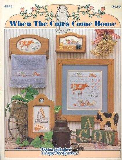 When the Cows Come Home ~ Cross-Stitch Chart 1989